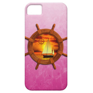 Puesta del sol del velero iPhone 5 Case-Mate fundas