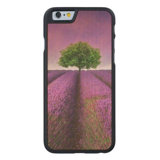 Puesta del sol del verano del paisaje del campo de funda de iPhone 6 carved® slim de arce