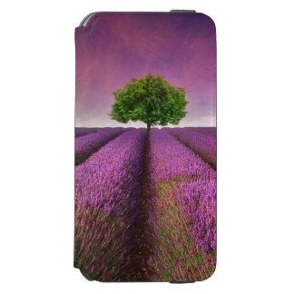 Puesta del sol del verano del paisaje del campo de funda cartera para iPhone 6 watson