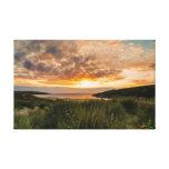 Puesta del sol del verano lona envuelta para galerías