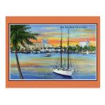 Puesta del sol del vintage en West Palm Beach la Postal