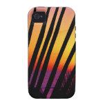 Puesta del sol detrás de las palmas iPhone 4/4S fundas