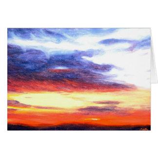 Puesta del sol diciembre de 2006 tarjeta de felicitación