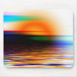 Puesta del sol divina colorida del arco iris en la tapetes de raton