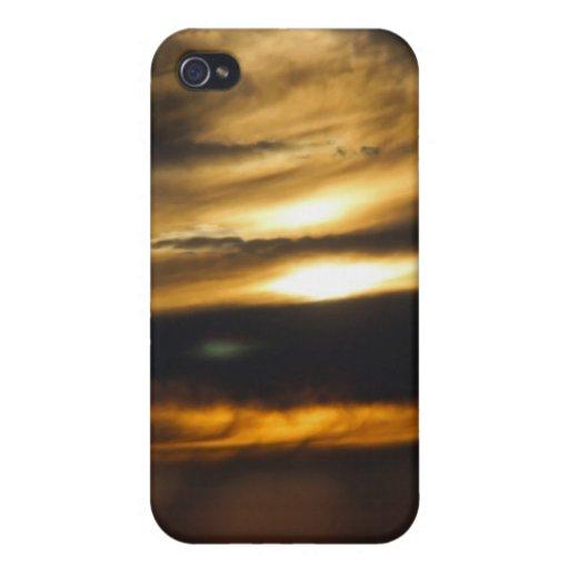 Puesta del sol doble del sol iPhone 4 carcasas