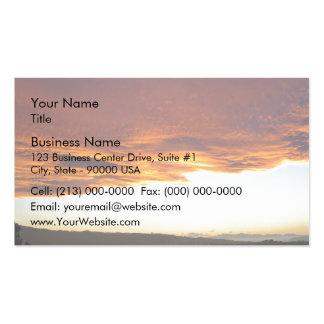 Puesta del sol dramática sobre el lago tarjeta de visita