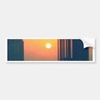 puesta del sol Dubai Pegatina De Parachoque
