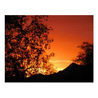 Puesta del sol dulce de la serenidad de Val Tarjetas Postales