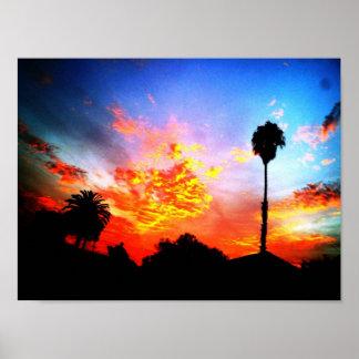 puesta del sol dulce póster