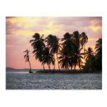 Puesta del sol, E Lemmons, Kuna Yala, Panamá Tarjeta Postal