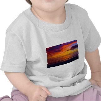 Puesta del sol el Golfo de México Camiseta