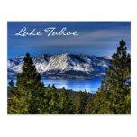 Puesta del sol el lago Tahoe Nevada/postal de Cali Postales