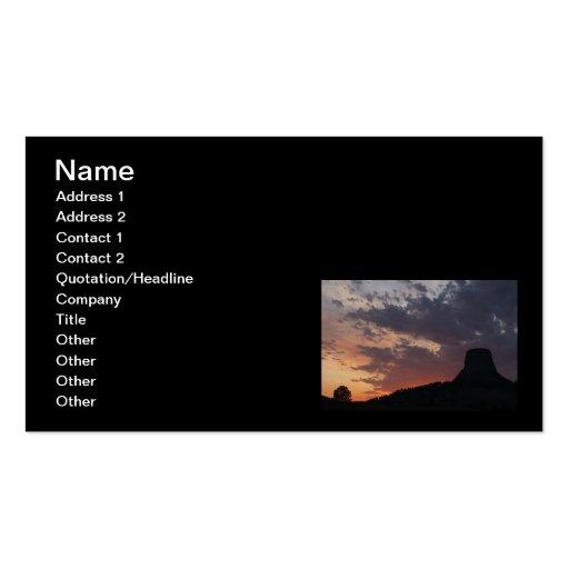 Puesta del sol elevada tarjetas de visita