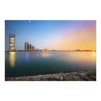Puesta del sol en Abu Dhabi Cojinete