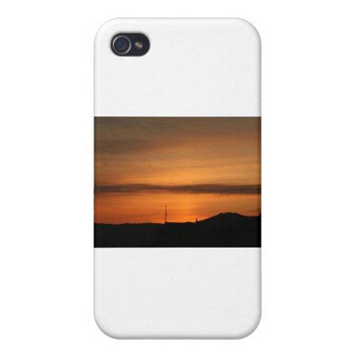 Puesta del sol en Alaska iPhone 4/4S Carcasa