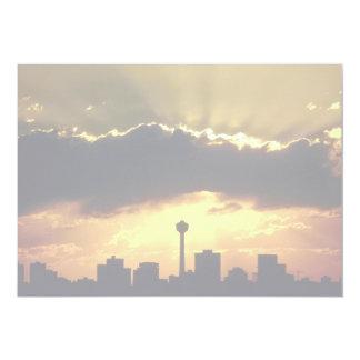"""Puesta del sol en Alberta Calgary Canadá Invitación 5"""" X 7"""""""