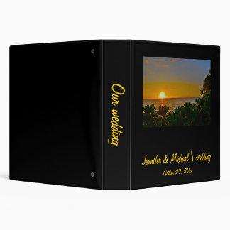 """Puesta del sol en álbum de foto del paraíso carpeta 1 1/2"""""""