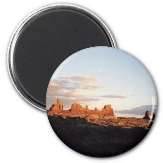 Puesta del sol en arcos, Utah Imanes De Nevera