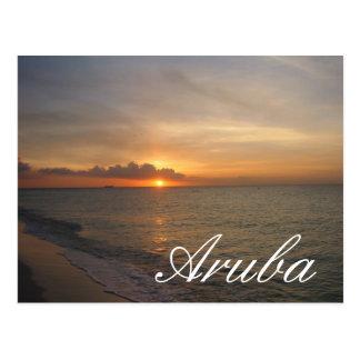 Puesta del sol en Aruba Tarjetas Postales