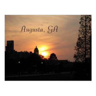 puesta del sol en Augusta, Augusta, GA Postal