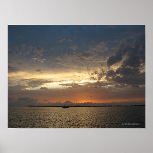 Puesta del sol en Bahamas 03 Posters