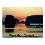 Puesta del sol en Bandon, Oregon Tarjeta Postal