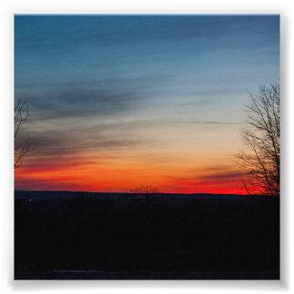 """""""Puesta del sol en Broadalbin"""" por Shawn Tomlinson Arte Fotográfico"""
