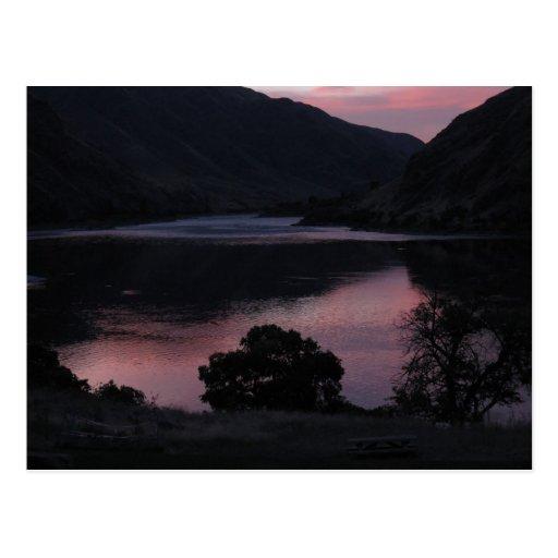 Puesta del sol en Cache Creek Postales