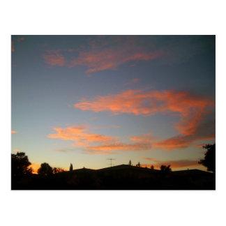 Puesta del sol en Campbell California Postales