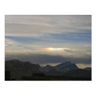 Puesta del sol en Canmore Postales
