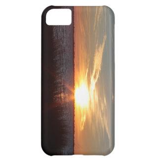 Puesta del sol en caso del iphone de la isla de Ch Funda Para iPhone 5C