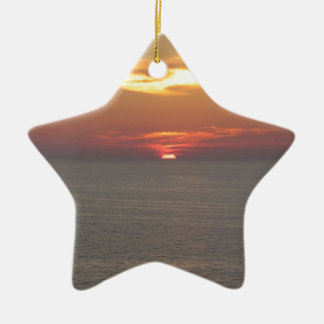 Puesta del sol en Clearwater Adorno Navideño De Cerámica En Forma De Estrella