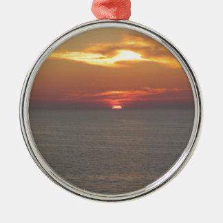Puesta del sol en Clearwater Adorno Navideño Redondo De Metal