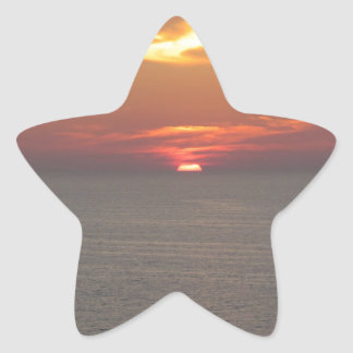 Puesta del sol en Clearwater Calcomanias Forma De Estrella