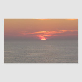 Puesta del sol en Clearwater Pegatina Rectangular
