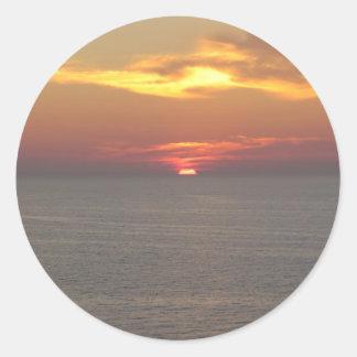 Puesta del sol en Clearwater Pegatina Redonda