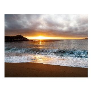 Puesta del sol en Costa del Pacífico de Monterey,  Postales
