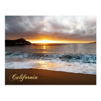 Puesta del sol en Costa del Pacífico de Monterey, Tarjetas Postales