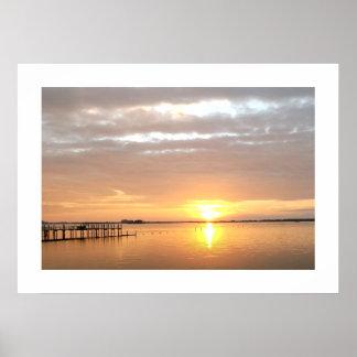 Puesta del sol en Dunedin, la Florida Impresiones