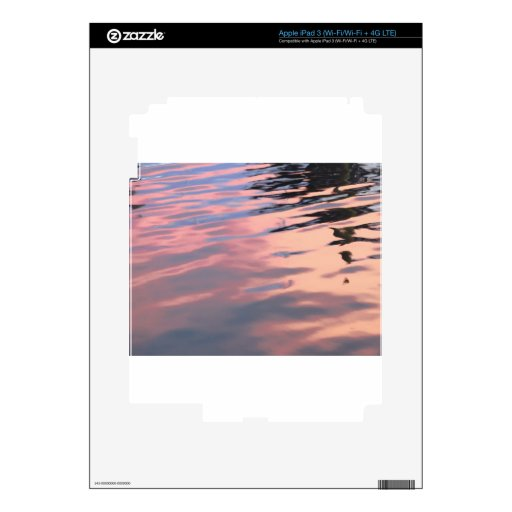 Puesta del sol en el agua pegatinas skins para iPad 3