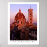 Puesta del sol en el Duomo Poster