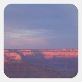 Puesta del sol en el Gran Cañón Pegatina Cuadrada