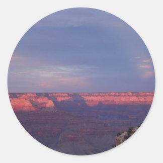 Puesta del sol en el Gran Cañón Pegatina Redonda
