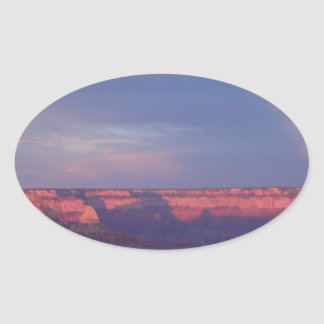 Puesta del sol en el Gran Cañón Pegatina Ovalada