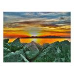 Puesta del sol en el Great Salt Lake Arte Con Fotos