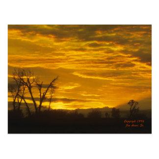Puesta del sol en el Green River Postales