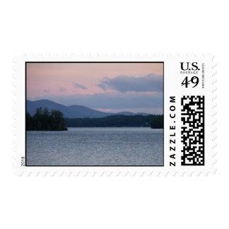 Puesta del sol en el lago 2 sellos