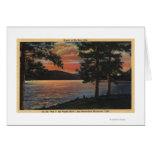 Puesta del sol en el lago big Bear Tarjeta De Felicitación