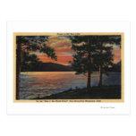 Puesta del sol en el lago big Bear Tarjeta Postal