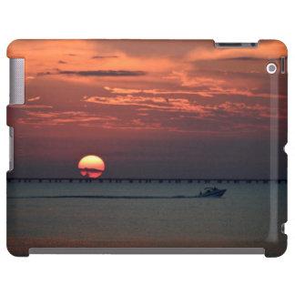 Puesta del sol en el lago - caso del iPad